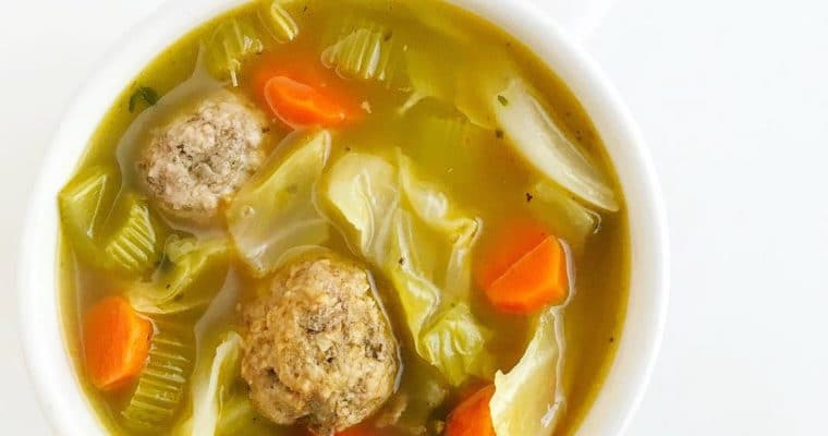 Meatball and Cabbage Bone Broth Soup