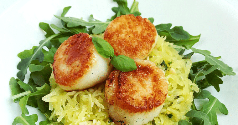 Seared Scallops with Spaghetti Squash