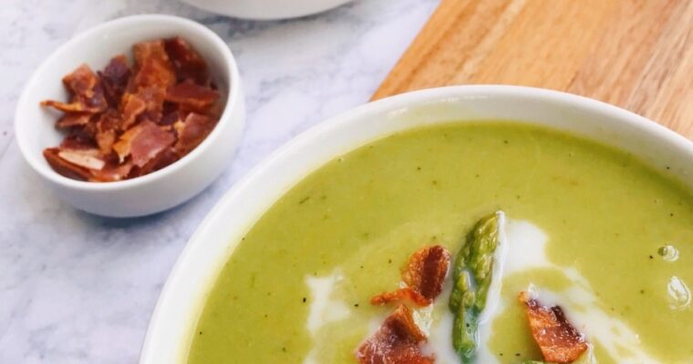 Dairy-Free Bacon-Asparagus Soup