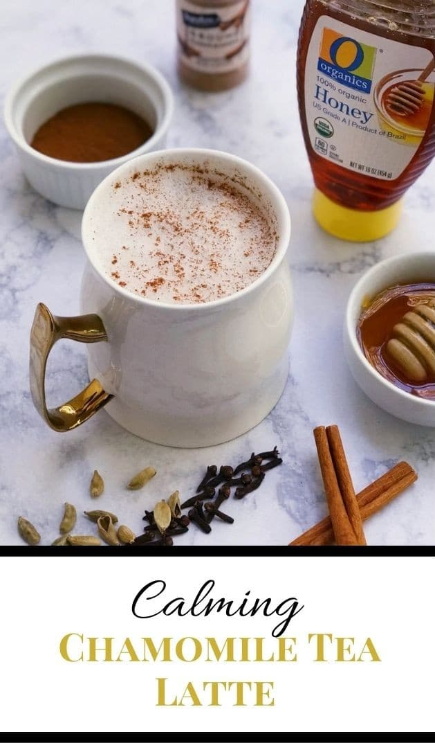 Calming Chamomile Tea Latte pinterest image
